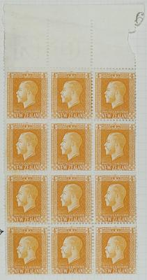 Stamps: New Zealand Four Pence.