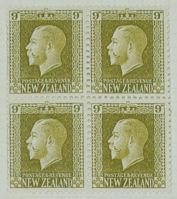 Stamps: New Zealand Nine Pence