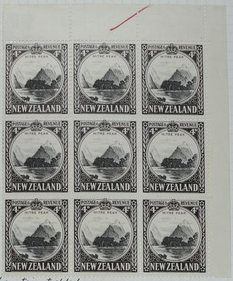 Stamps: New Zealand Four Pence