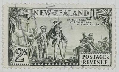 Stamp: New Zealand Two Shillings