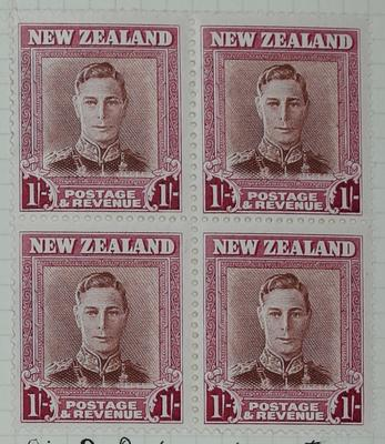Stamps: New Zealand One Shilling