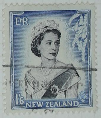 Stamp: New Zealand One Shilling and Six Pence
