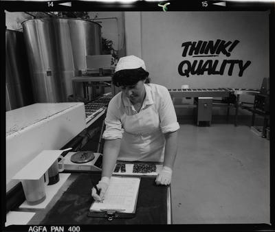 Negative: Woman At Nestle Factory