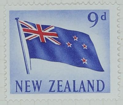 Stamp: New Zealand Nine Pence