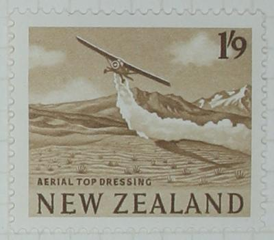 Stamp: New Zealand One Shilling and Nine Pence