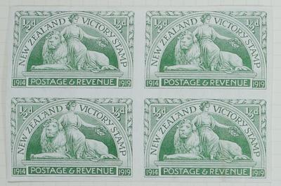 Proof: New Zealand Half Penny Stamp