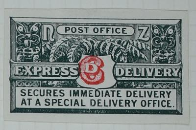 Proof: New Zealand Express Delivery Stamp