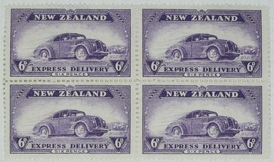 Stamps: New Zealand Express Delivery Six Pence