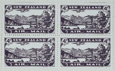 Stamps: New Zealand Air Mail Four Pence
