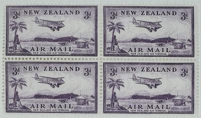 Stamps: New Zealand Air Mail Three Pence