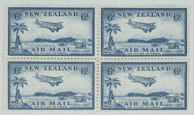 Stamps: New Zealand Air Mail Six Pence