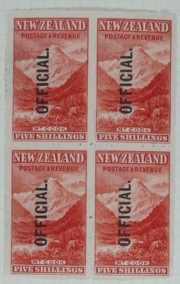 Stamps: New Zealand Five Shillings
