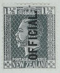 Stamp: New Zealand One and a Half Pence