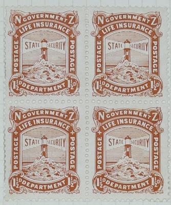 Stamps: New Zealand One and a Half Pence