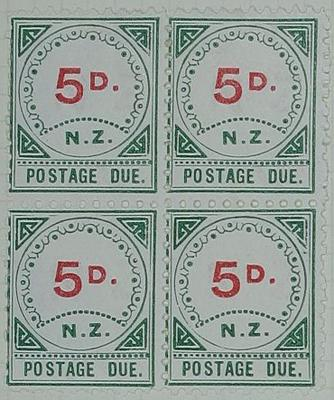 Stamps: New Zealand Five Pence Postage Due