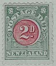 Stamp: New Zealand Two Pence Postage Due