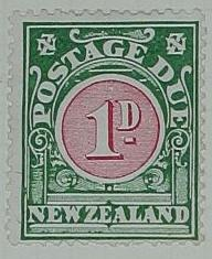 Stamp: New Zealand One Penny Postage Due