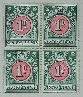 Stamps: New Zealand One Penny Postage Due