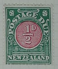 Stamp: New Zealand Half Penny Postage Due