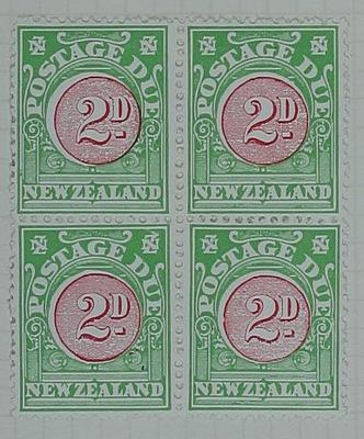 Stamps: New Zealand Two Pence Postage Due