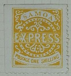Stamp: Samoan One Shilling