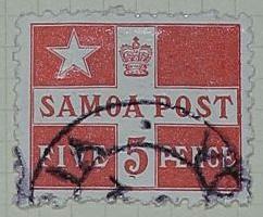 Stamp: Samoan Five Pence