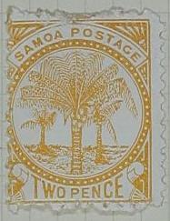 Stamp: Samoan Two Pence