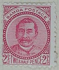 Stamp: Samoan Two and a Half Pence