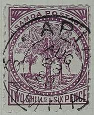 Stamp: Samoan Two Shillings and Six Pence
