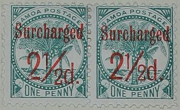 Stamps: Samoan Two and a Half Pence
