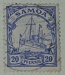 Stamp: Samoan Twenty Pfennig