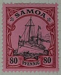Stamp: Samoan Eighty Pfennig