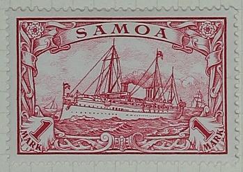 Stamp: Samoan One Mark