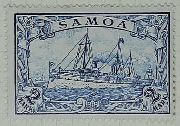 Stamp: Samoan Two Mark
