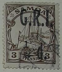 Stamp: Samoan Half Penny