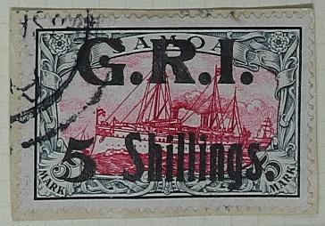 Stamp: Samoan Five Shillings