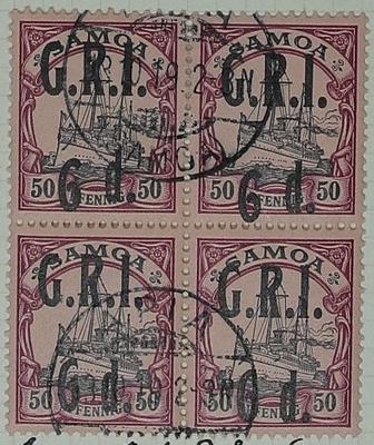 Stamps: Samoan Six Pence