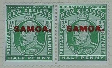 Stamps: New Zealand - Samoa Half Penny