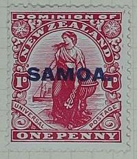Stamp: New Zealand - Samoa One Penny