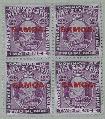 Stamps: New Zealand - Samoa Two Pence