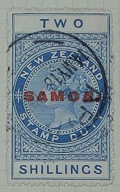 Stamp: New Zealand - Samoa Two Shillings