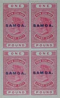 Stamps: New Zealand - Samoa One Pound