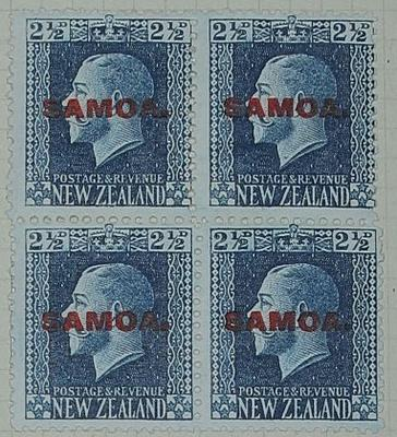 Stamps: New Zealand - Samoa Two and a Half Pence