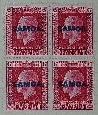 Stamps: New Zealand - Samoa Six Pence