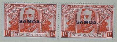 Stamps: New Zealand - Samoa One Shilling