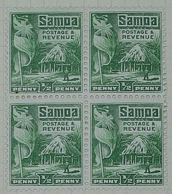 Stamps: Samoan Half Penny