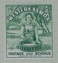 Stamp: Western Samoan Half Penny