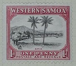 Stamp: Western Samoan One Penny