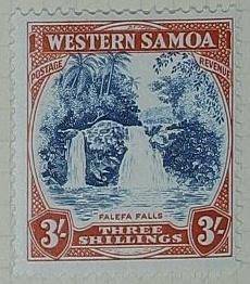 Stamp: Western Samoan Three Shillings
