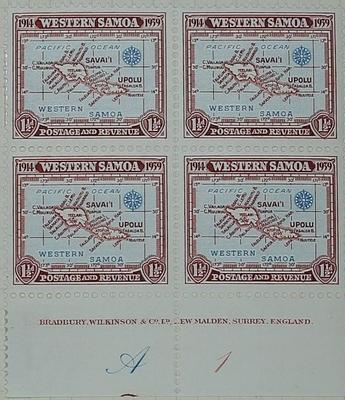 Stamps: Western Samoan One and a Half Pence